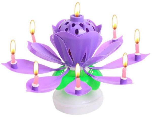 Lotus Birthday Candle Morcor Computers